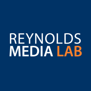 Within the Reynolds Media lab students can experiment and produce multi-media projects with help from experts.