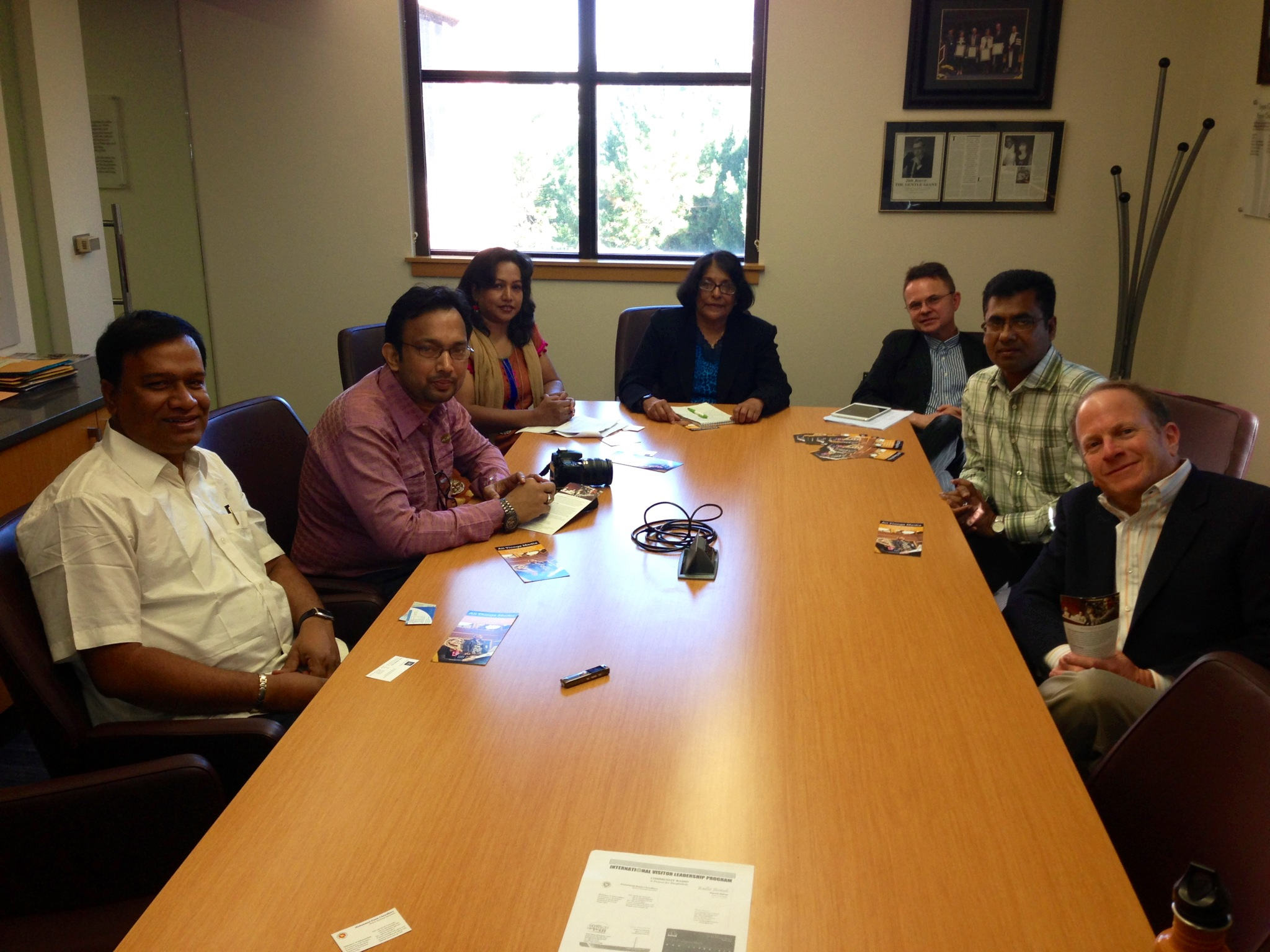 Reynolds School hosts Bangladeshi community radio delegation