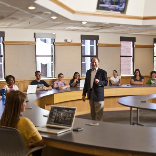 Al Stavitsky speaking in a classroom