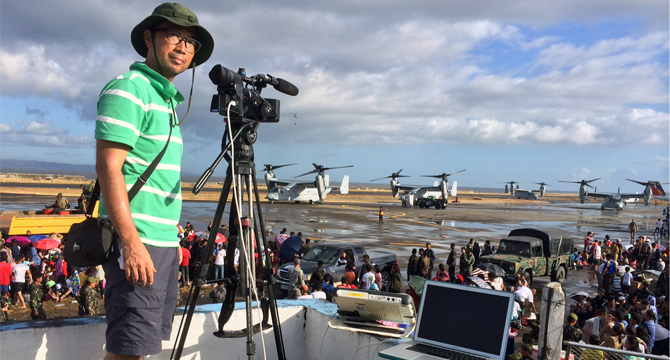 RSJ alumnus covers Typhoon Haiyan