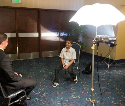 Leonel Beas on interview set