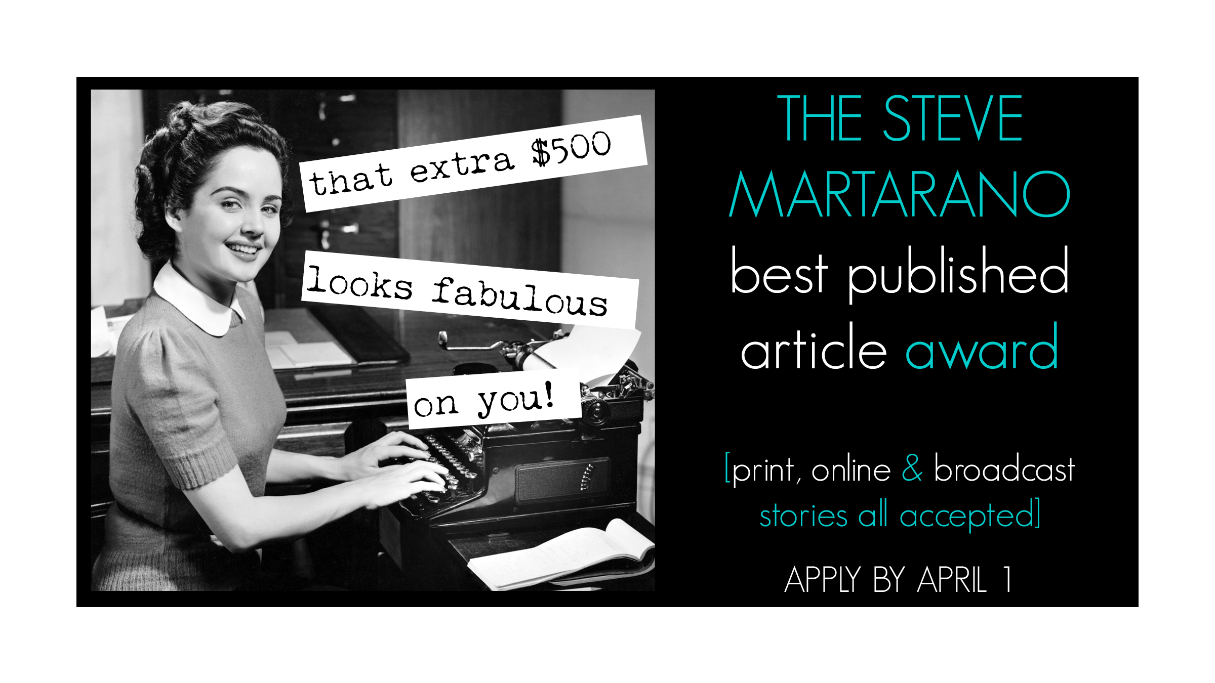Submit published work for a chance to win $600