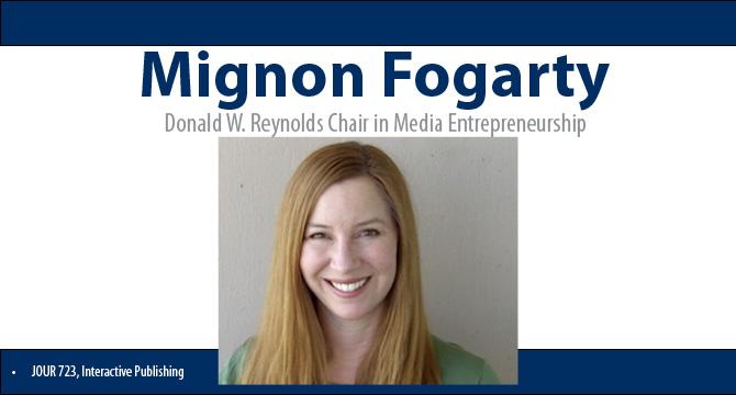 Mignon Fogarty joins Reynolds School faculty