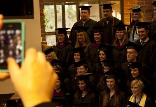 Reynolds Graduates pose for pictures