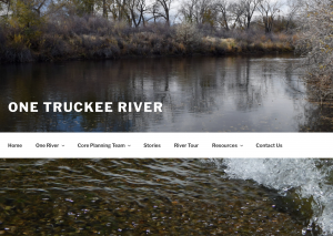 Screen shot from One Truckee River a graduate final project