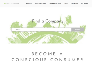 The Conscious Consumer Blog Front Page