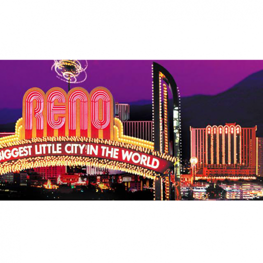 Colorful photo of the Reno sign, the biggest little city in the world