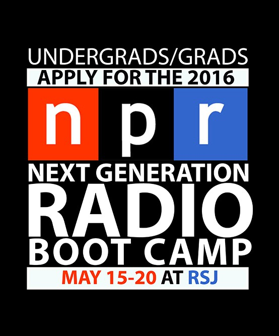 Apply now for 2016 NPR Boot Camp