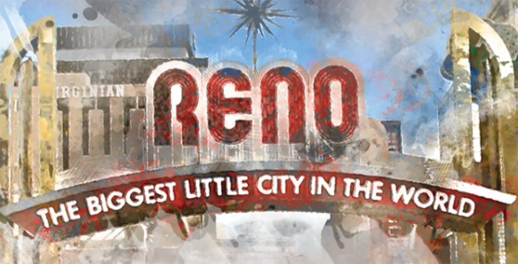 Illustration of the Reno sign.