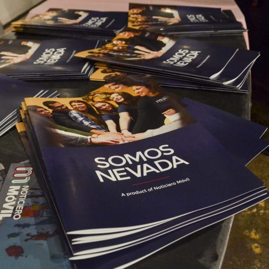 "Somos Nevada, which translates to ""We are Nevada,"" is a print publication from Noticiero Movil."
