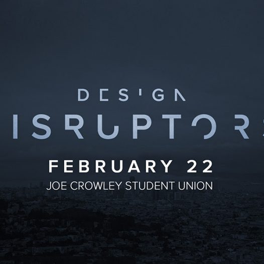 Design Disruptors, a documentary on design in business, will be showing at the Joe Crowley Student Union.