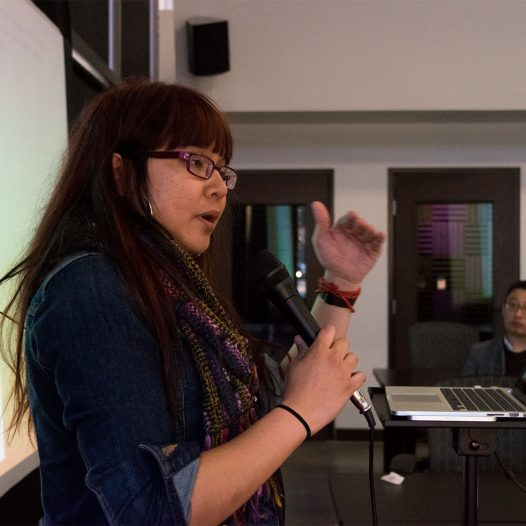 An Xiao Mina speaks at the Reno Collective on Monday, March 13, 2017.