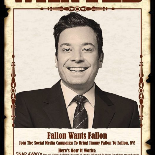 A Reynolds Alumna is trying to get Jimmy Fallon to visit, well, Fallon, NV.
