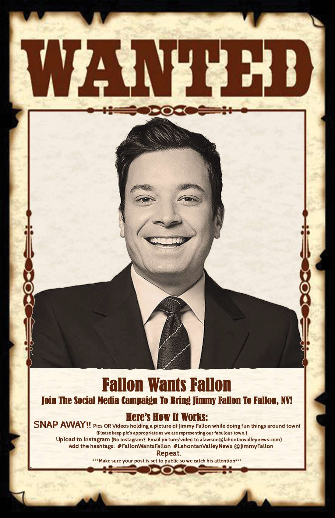 Reynolds Alumna is trying to get Jimmy Fallon to visit, well, Fallon, Nevada