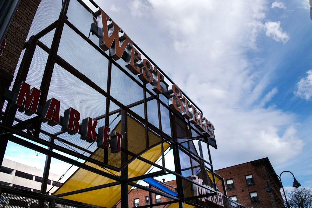 West Street Market sign.