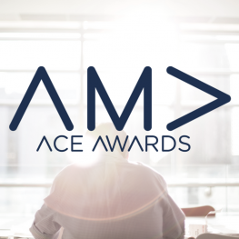 AMA Ace Awards Logo - a man sitting at a desk