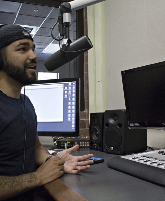 Student creates podcast, prepares for future as sports broadcaster