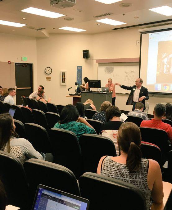 Regional journalists gather at the Reynolds School for a digital storytelling workshop