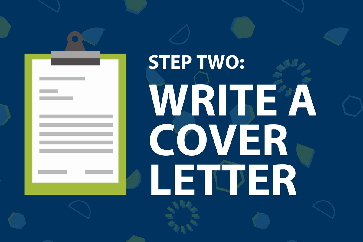 Step two: write a cover letter
