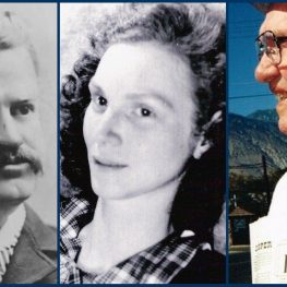 Journalists Wells Drury, Jean McElrath and Jack McCloskey.