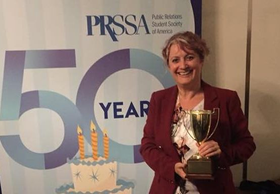 Reynolds School instructor honored at national public relations conference