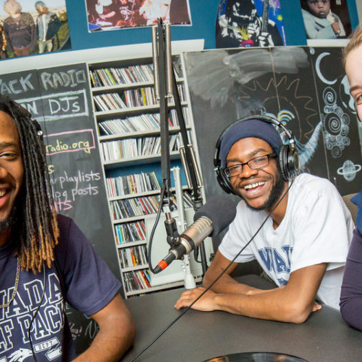 Students produce a radio show at Wolf Pack Radio.