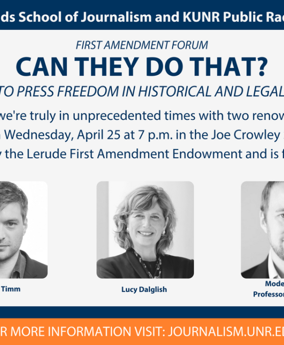 Can they do that? Threats to press freedom in their historical and legal context.