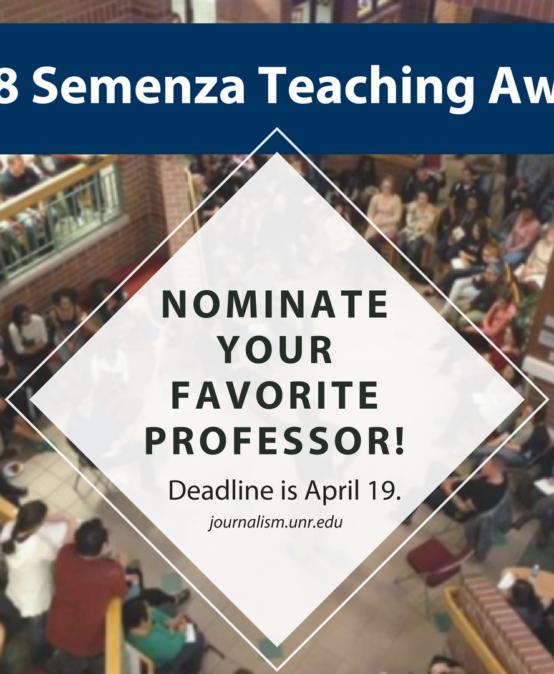 Nominate Your Favorite Professor For The 2018 Semenza Teaching Award