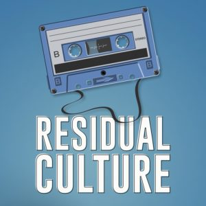 Residual Culture logo with tape and blue background