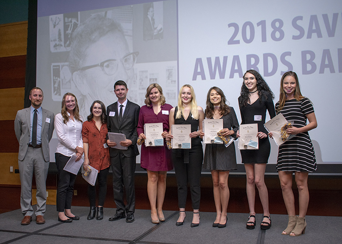 2018 Savitt Awards Banquet honors scholarship recipients, outstanding students