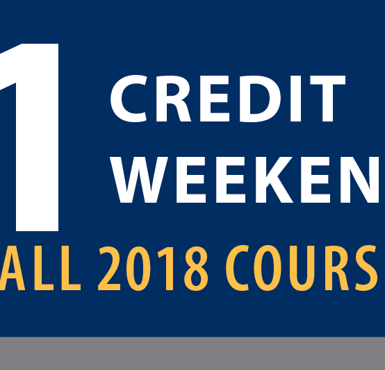 One-credit, one-weekend courses offered this fall