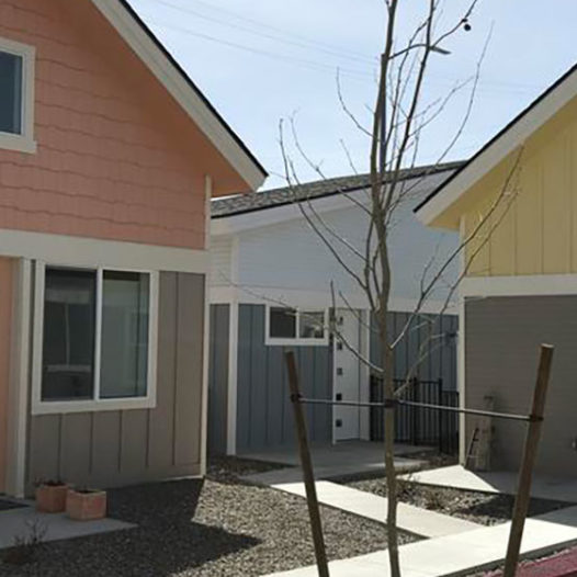 Two tiny homes in Reno.